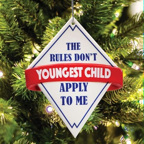 The Rules Ornaments - Youngest Child