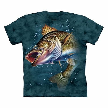Jumbo Fish T-Shirt - Walleye