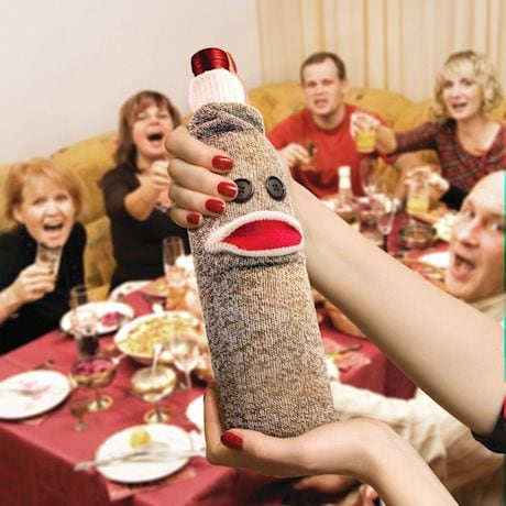 Sock Monkey Wine Bottle Holder