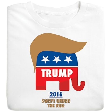 Trump Hair on Republican Elephant - Funny Presidential Election T-shirt