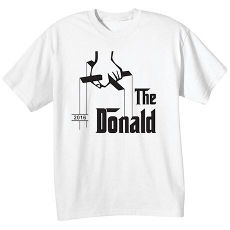 The Donald Puppeteer Logo - Funny Presidential Election T-shirt