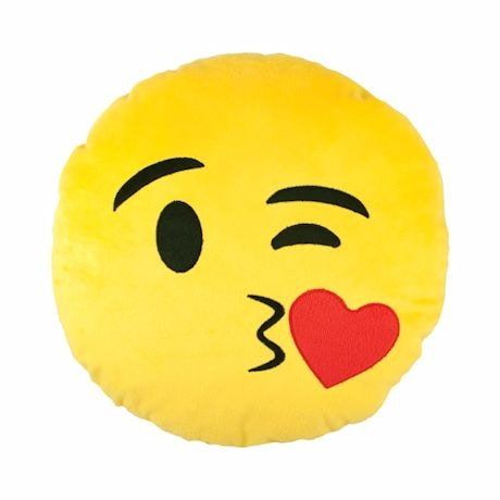 Emojicon Plush Pillows- Winky Kiss