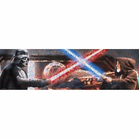 Star Wars® Photo-Mosaic Puzzles - Duel On Death Star