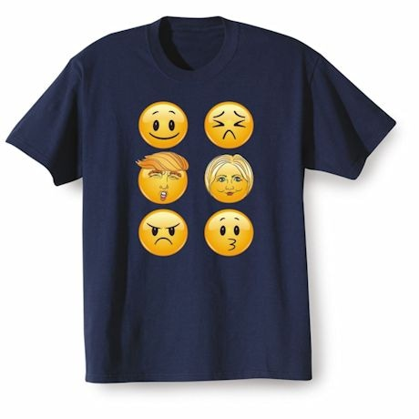 Funny Donald Trump Hillary Clinton Emoji Shirt