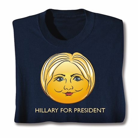 Hillary for President Emoji Face Shirt