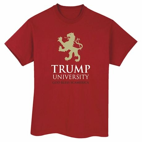 Trump University: God Bless Scamerica - Funny Political Shirt