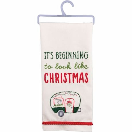 Look Like Christmas Camper Dishtowel