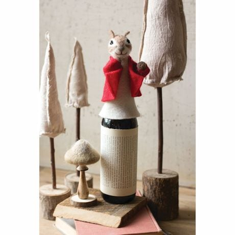 Cheerful Chipmunk Wine Bottle Topper