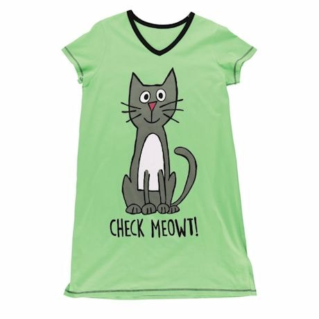 Check Meowt Sleepshirt