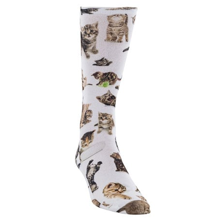 Cat Pattern Sublimated Crew Socks