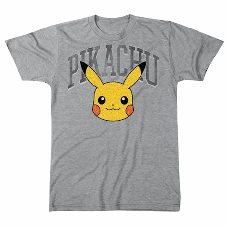 Pokemon Pikachu Athletics Arch Sport Gray T-Shirt