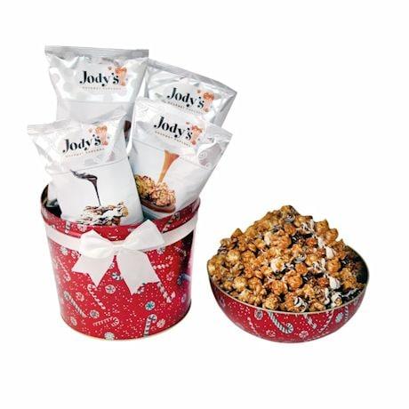Holiday Bowl Tin Popcorn