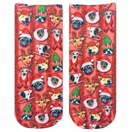 Christmas Puppies Crew Socks