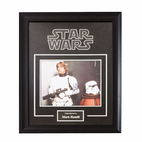 Star Wars Signed Print Luke Skywalker
