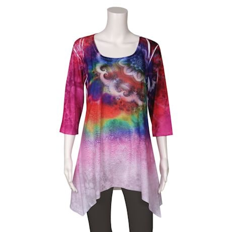 Tie-Dye Paisley Sublimated Tunic