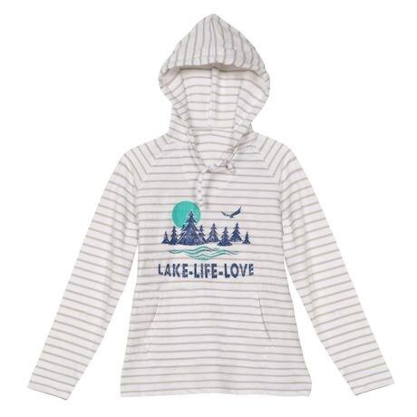 Lake Life Love Ladies' Stripe Hoodie