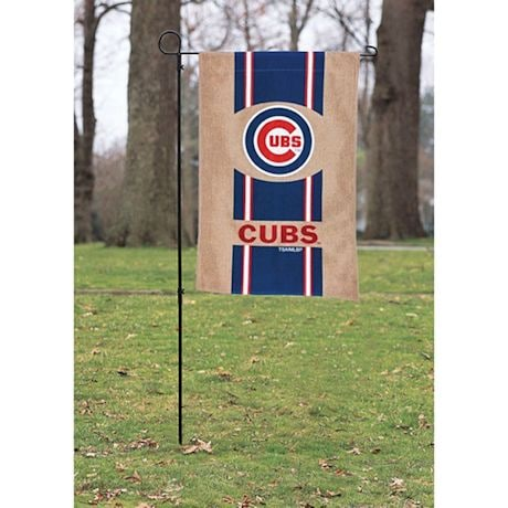 MLB Double-Sided Burlap House Flag Stand