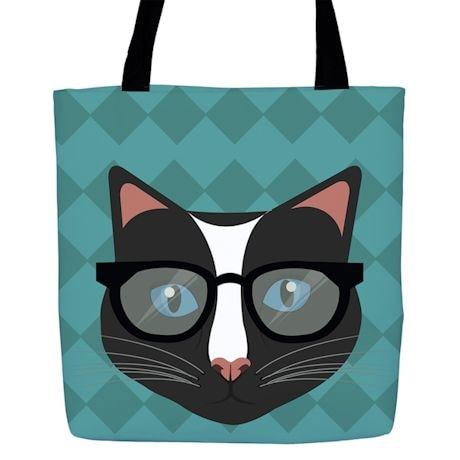Hipster Kitty Totes - Blue