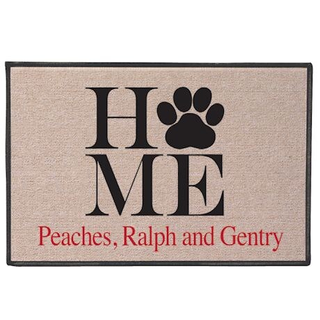 Personalized Paw Print Doormat