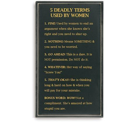Deadly Terms Wall Plaque