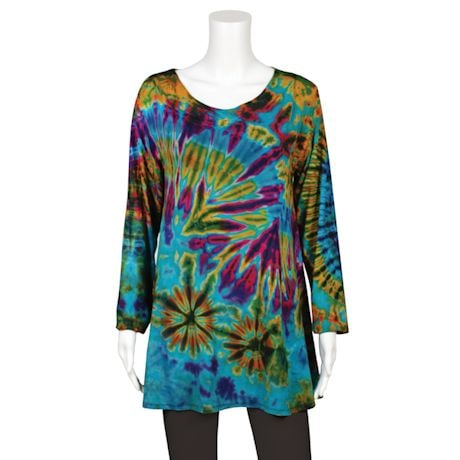 Tie-Dye Long Sleeve Tunic