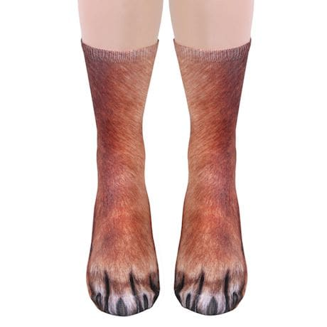 Sublimated Paw Crew Socks