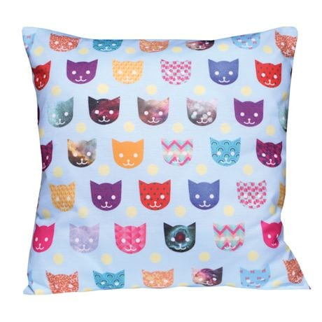 Colorful Critters Pillows - Cats