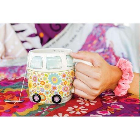 Happy Hippy Camper Van Mug