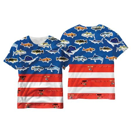 American Flag Fishing Sublimated Tee