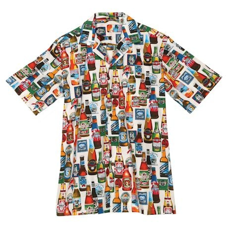 Beer Bottles Camp Shirt