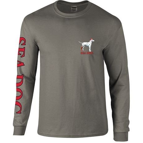 Skele-Dog Biker Long Sleeve Tee