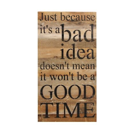 Good Time Weathered Wall Plaque