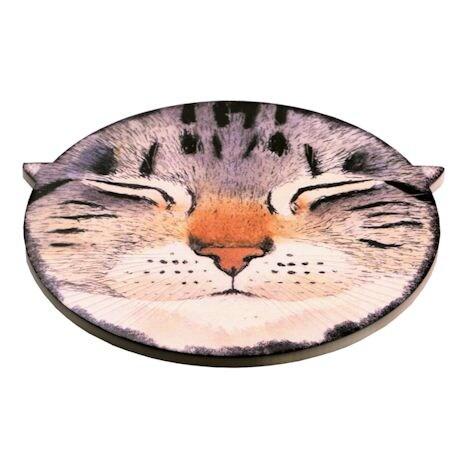 Catnap Ceramic Trivet