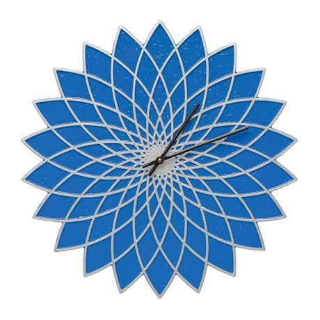 Indoor - Outdoor Metal Clocks - Blue Lotus