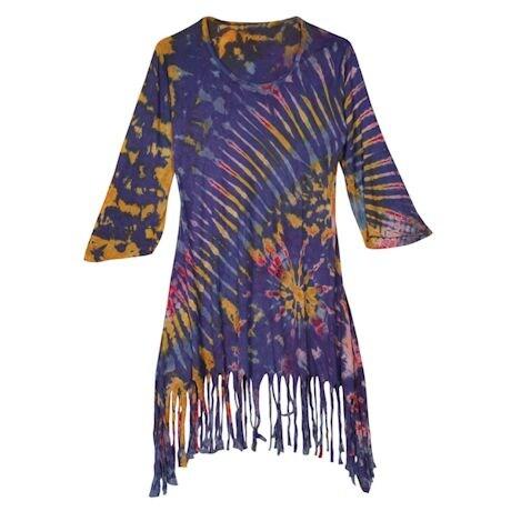 Tie-Dye Fringe Tunic