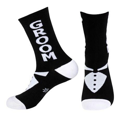 Groom Wedding Party Crew Socks