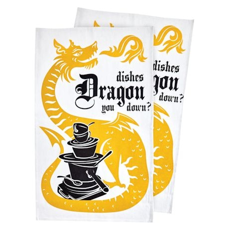 Dragon Dish Towel Set