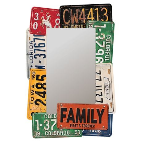 Faux License Plate Mirror