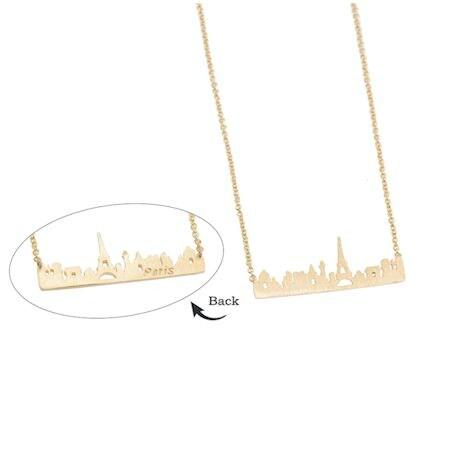 Paris Skyline Necklace