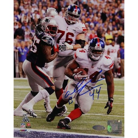 Ahmad Bradshaw Super Bowl XLVI GW TD Fall Into Endzone Signed 16x20 Photo