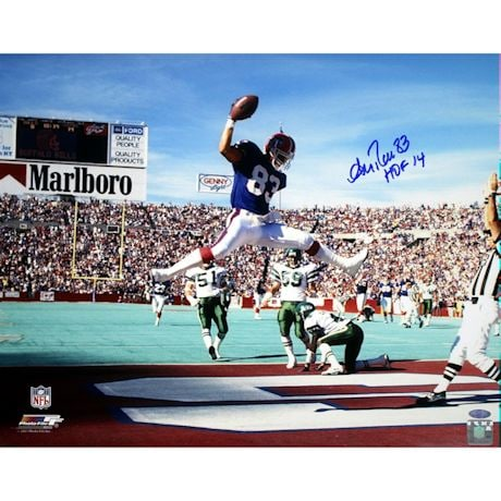 "Andre Reed Horizontal jump in endzone Bills 16x20 w/""HOF 14""Insc."