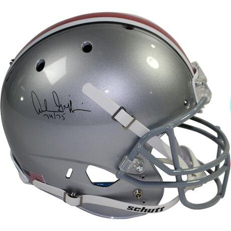 "Archie Griffin Signed Ohio State Buckeyes Schutt Full Size Replica Helmet w/ ""74/75 Heisman"" Insc."