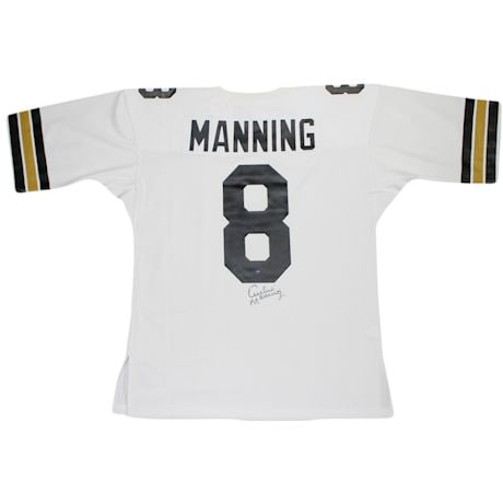Archie Manning Signed Authentic 1971 White New Orleans Saints Mitchell and Ness Jersey (Signed Below Number)