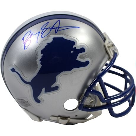 Barry Sanders Signed Detroit Lions Replica Mini Helmet