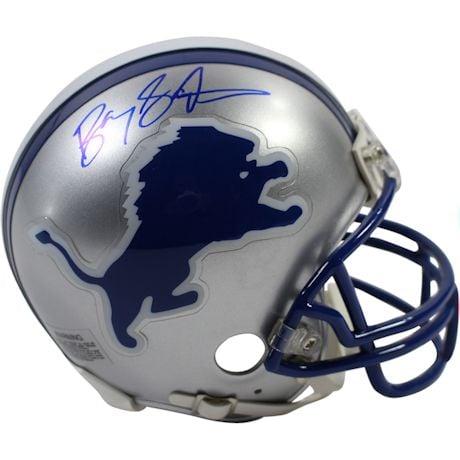 Barry Sanders Signed Detroit Lions Replica Mini Helmet