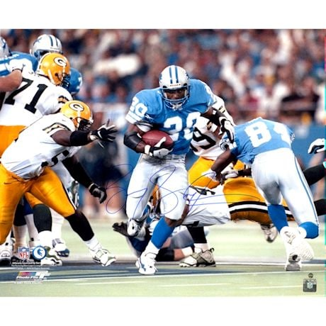 Barry Sanders Signed Running Horizontal 18x24 Photo