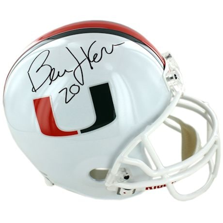 Bernie Kosar Signed University of Miami Replica Helmet