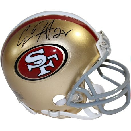Carlos Hyde Signed San Francisco 49ers Replica Mini Helmet