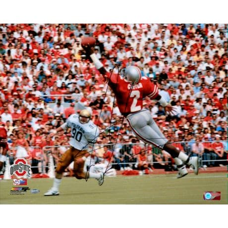 Cris Carter Signed One Handed Catch 16x20 Photo (Getty#109827359)