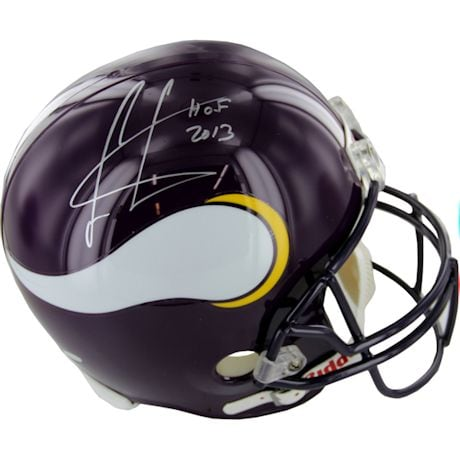 Cris Carter Vikings Signed Replica Helmet w/ HOF Inscription